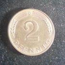 Coin Germany 2 Pfennig 1991 G