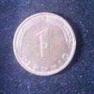 Coin Germany 1 Pfennig 1976 J