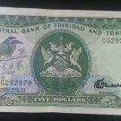 Banknote Trinidad and Tobago $5 1985
