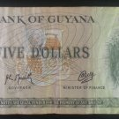 Banknote Guyana $5 1989
