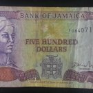 Banknote Jamaica $500 2003