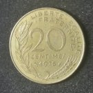Coin France 20 centimes 1975
