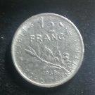 Coin France 1/2 Franc 1968