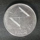 Coin Italy 100 Lire 1974 Marconi
