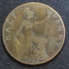 Coin Great Britain England UK Half Penny 1905