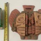 Mayan Aztec Terra Cotta Clay Three Ages of Man Mask