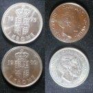 Coin Denmark 1 Krone 1980