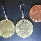 France French Real Coin Earrings 10 Centimes