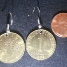 Austria Real Coin Earrings 1 Schilling