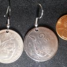 Thailand Real Coin Earrings 1 Baht