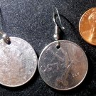 Italy Real Vintage 1970s Coin 50 Lire Earrings