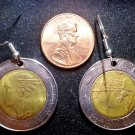 Italy Real Vintage 1990s Coin 500 Lire Earrings