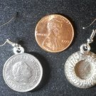 Dutch Netherlands Pays-Bas Real Vintage Coin 25 cents Earrings boucles d'oreilles