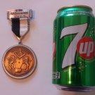 Vintage 1984 Staudernheim Volkswanderung Volksmarch German Walking Hiking Medal Badge