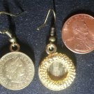 Swiss Switzerland Real Vintage 1980s Coin Earrings boucles d'oreilles