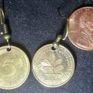 German Real Vintage Coin Earrings boucles d'oreilles