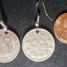 Portugal Real Vintage Coin Earrings boucles d'oreilles