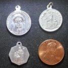 Lot 3 Vintage Religious Medal Holy Face marie reine des Coeurs St Martin de Porres