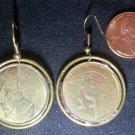 Belgium Real Vintage Coin 1986 Earrings boucles d'oreilles