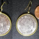 Mexico Real Vintage 1970s Coin Earrings boucles d'oreilles