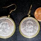 Dutch Netherlands Pays-Bas Real Vintage Coin 1 Gulden Earrings boucles d'oreilles