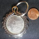 Mexico Real Vintage 1970s Coin 1 Peso Keychain