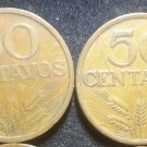 Lot 4 Coin Portugal 50 Centavos 1969 1974 1975 1977