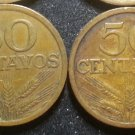 Lot 2 Coin Portugal 50 Centavos 1972 1973