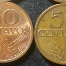 Lot 2 Coin Portugal 50 Centavos 1978 1979