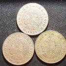 Lot 3 Coin Mexico 50 Centavos 1968 1971 1976