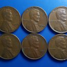 Lot 6 Coin US 1 Cent Lincoln Wheat 1949 1950 1951 1952