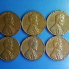 Lot 6 Coin US 1 Cent Lincoln Memorial 1959 1960 1966 1967