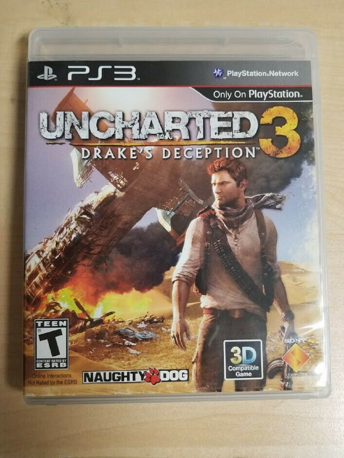 Uncharted 3: Drake's Deception (Sony PlayStation 3, 2011) LIKE NEW with BOOKLET