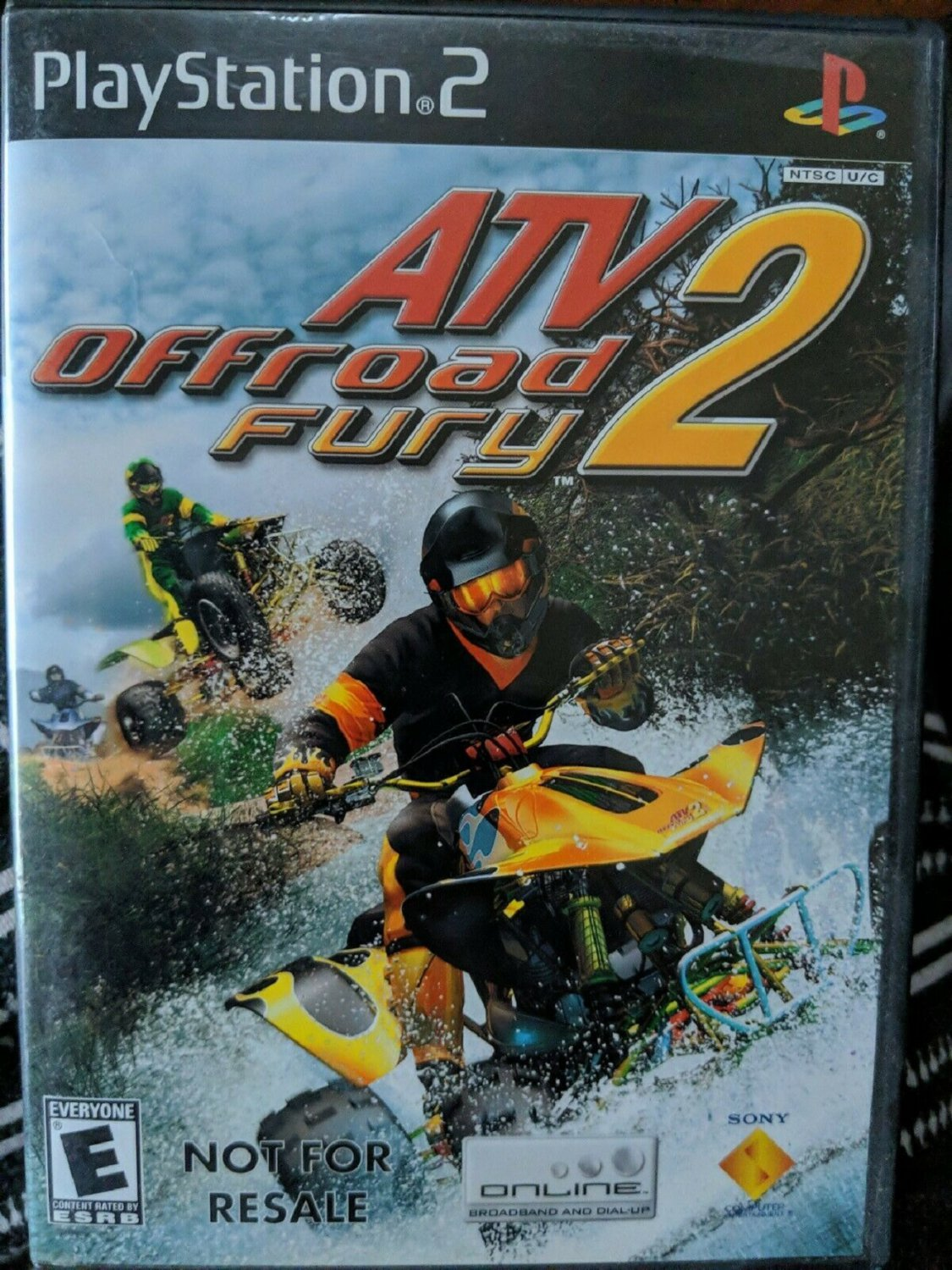 ATV Offroad Fury 2 (Sony PlayStation 2, 2002) disc LIKE NEW with BOOKLET
