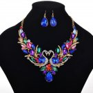 Gold Plated multi coloured jewelry set