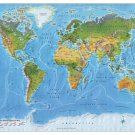 World Map Poster - A1 Size Paper Format