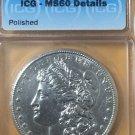 1902 o morgan silver dollar Ms 60 ICG