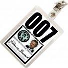 Kolo Kolo James Bond 007 MI6 SIS ID Badge Name Tag Card Prop for Costume & Cosplay JB-2