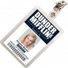 Kolo Kolo The Office Angela Martin Dunder Mifflin ID Badge Cosplay Costume Name Tag TO-5
