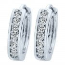 18K Gold Plated Cubic Zirconia Crystal Round Hoop Huggie Earrings Men Women E48 Silver From USA