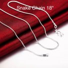 """2pc 925 Sterling Silver Plated 1MM Link 20"""" Chain Necklace From USA"""