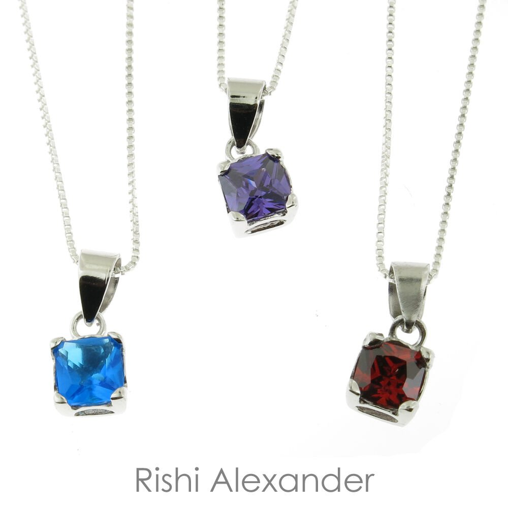 925 Sterling Silver Children Birthstone Necklace All Months Available January From USA