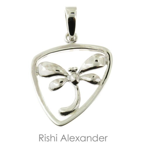 """925 Sterling Silver Dragonfly Pendant with 20"""" Chain From USA"""
