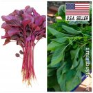 Kolokolo Store 2000 Seeds Seeds Red and Green Spinach Amaranth Seeds Asian Vegetable Heirloom