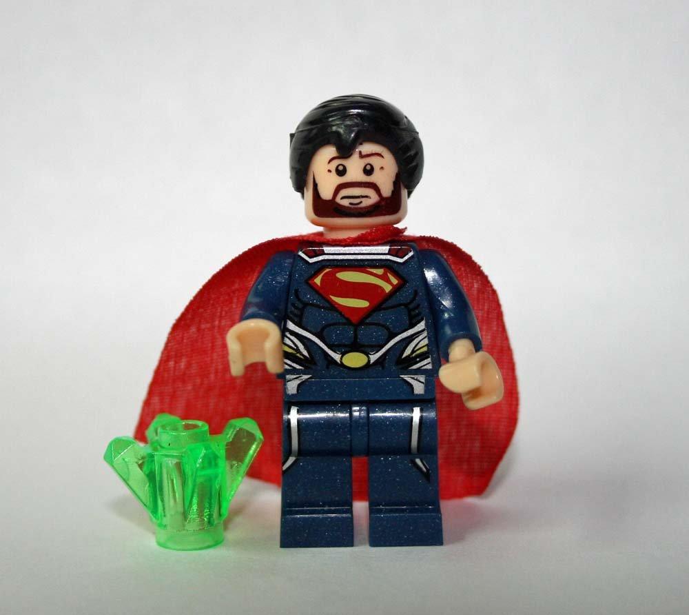 Lego Compatible Superman DC Comics beard Minifigure