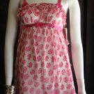 "Betsey Johnson ""Bowtiful"" cheffon baby doll negligee dress"
