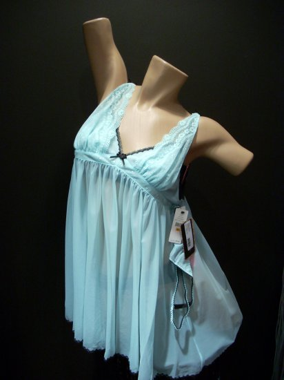 BETSEY JOHNSON BLUE BABY DOLL NEGLIGEES