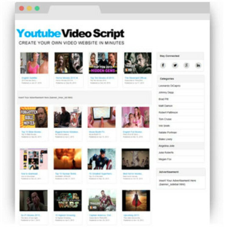 YouTube Video Script PHP -  Website Make Money Online