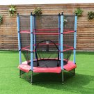 "55"" Kids Jumping Trampoline with Safety Pad Enclosure Combo"