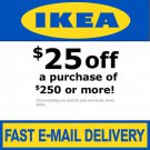 IKEA Coupon $25 Off $250 - In Store Only
